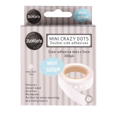 Rosie's Studio Crazy Dots 5mm (3/16in) 300 Pack White