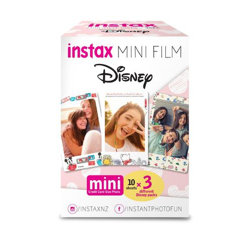 FujiFilm Instax Mini Film Disney 30 Pack Multi-Coloured