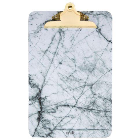 Uniti Marble Foolscap Clipboard