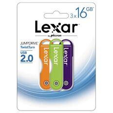 Lexar Jumpdrive V20 USB 16GB 3 Pack