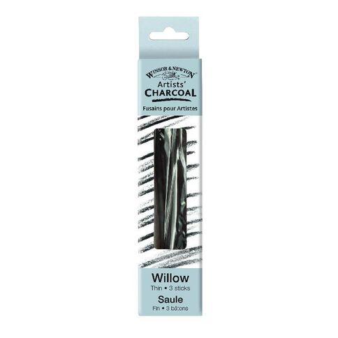 Winsor & Newton Thin 3 Sticks Charcoal