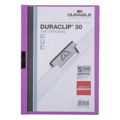 Durable Report Cover 30 Sheet Purple