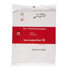 New Zealand Post Envelope Prepaid C4 Nonwindow Selfseal 25 Pack White