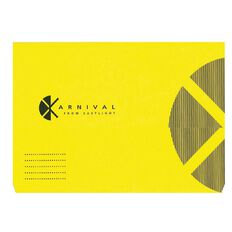Document Wallet Foolscap Expanding Karnival Yellow