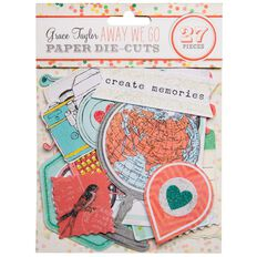 Grace Taylor Away We Go Paper Die Cuts Multi-Coloured