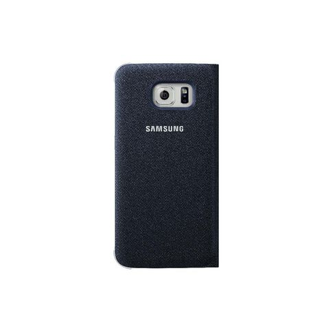 Samsung Galaxy S6 S View Fabric Cover - Blue Black Blue
