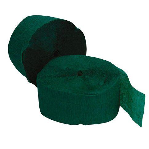 Meteor Streamers 24.6m x 4.45cm 2 Rolls Emerald Green