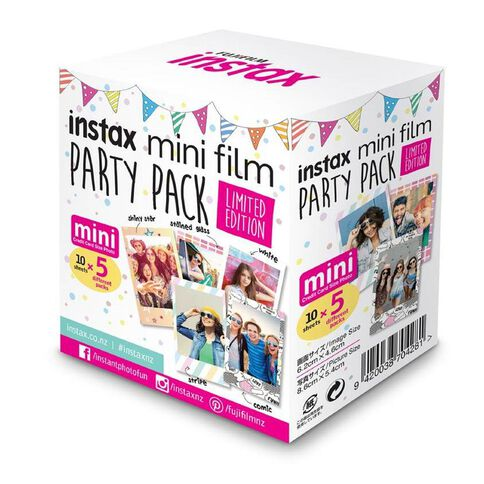 Fujifilm Instax Mini Party Pack Film Limited Edition Multi-Coloured