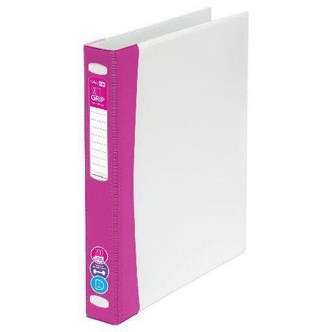 ColourHide Softgrip Ringbinder 2D Pink