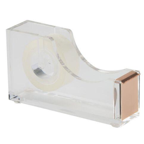Uniti Natural Glam Acrylic Tape Dispenser Clear