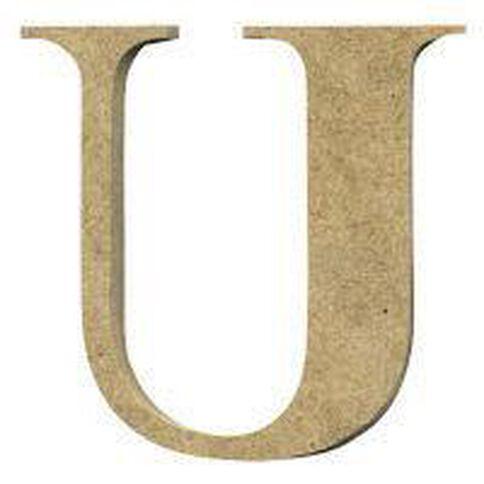 Sullivans Mdf Board Alphabet Letter 6cm U Brown