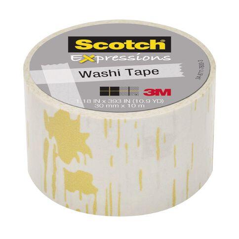 Scotch Washi Craft Tape 30mm x 10m Birch Yellow