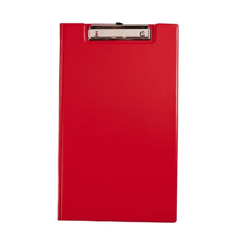 GBP Stationery Foolscap Pvc Double Clipboard Red