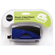 Impact Punch 2 Hole Plastic 10 Sheet Blue