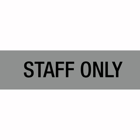 Alpi Self Adhesive Staff Only Silver