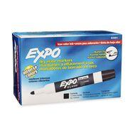 Expo Whiteboard Marker Low Odour Black Bullet 12 Pack Black