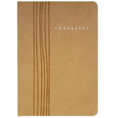 Eurobrands Indexed Address Book Faux Leather Sand