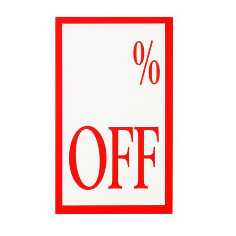 Quikstik Display Tickets % Off 10 Pack Red/White