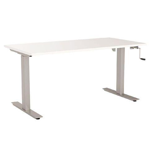 Agile Height Adjustable 1200 Desk White/Silver