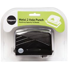 Impact Punch 2 Hole Metal 16 Sheet Black