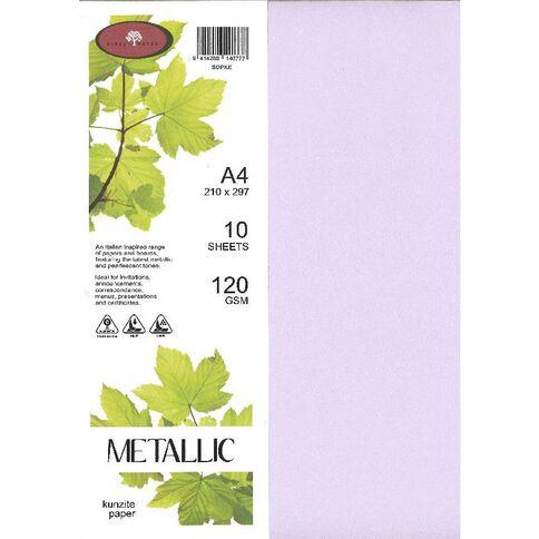 Metallic Paper 120gsm 10 Pack Kunzite A4