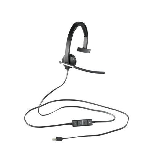 Logitech H650E USB Headset Mono Black
