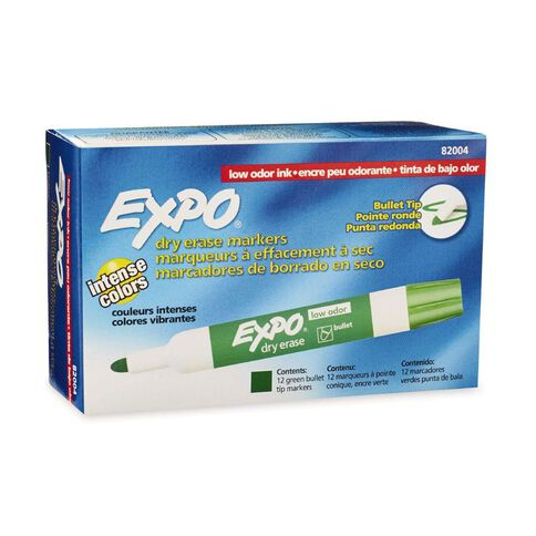Expo Low Odor Bullet 12 Pack Green