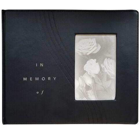 Eurobrands In Memoriam Book Faux Leather Black