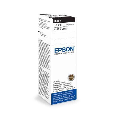 Epson Ink Bottle T6641 70ml Black