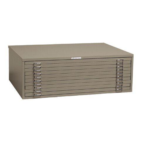 Precision Precision A0 10 Drawer Plan Cabinet Silver Grey