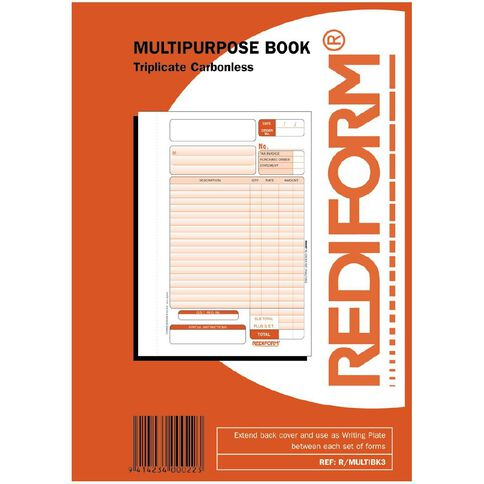 Rediform Multipurpose Book Triplicate 50 Sets A5