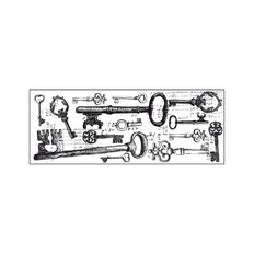 Kaisercraft Clear Stamps 50 x 130mm Texture Keys