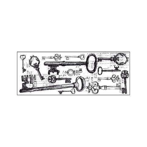 Kaisercraft Clear Stamps 50 x 130mm Texture Keys
