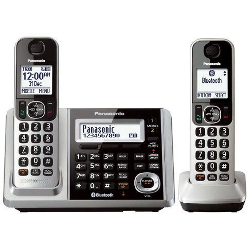 Panasonic Kx-Tgf372Azs Twin Cordless Phone Silver