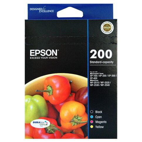 Epson Ink Cartridge 200 Value 4 Pack Multi-Coloured