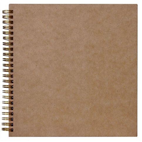 Rosies Studio Album 8 x 8 Plain Kraft Brown