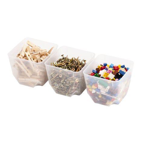 Sistema Organiser Tubs Small 3 Pack Clear