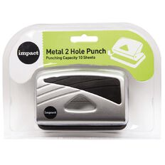 Impact Punch 2 Hole Metal 10 Sheet Silver Silver