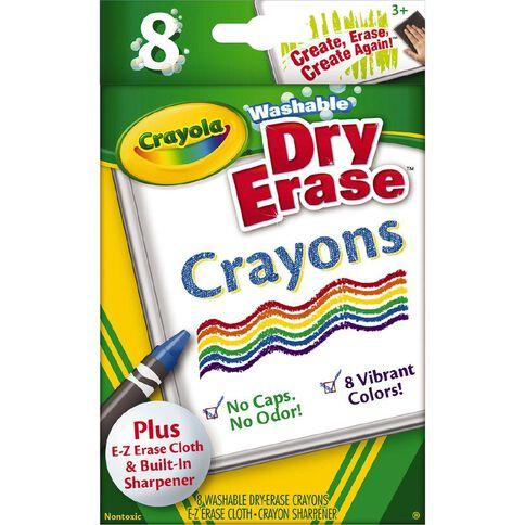 Crayola Washable Dry Erase Crayons + Mitt 8 Pack