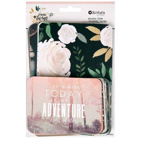 Rosie's Studio Twig & Twine Memory Cards 40 Pack Multi-Coloured