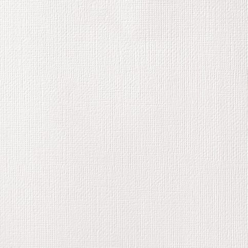 American Crafts Cardstock Textured 12 x 12 White
