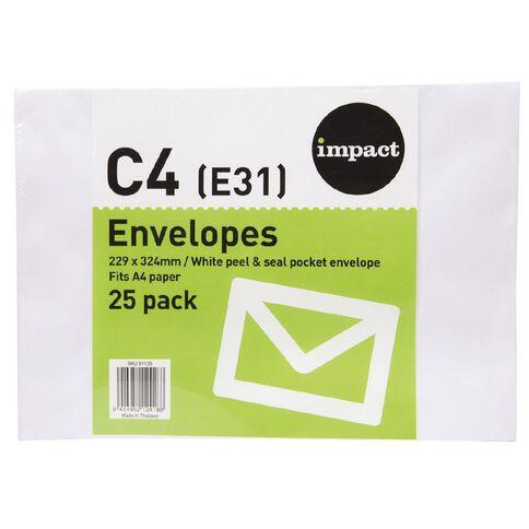 Croxley Croxley Envelope Pocket C4 25 Pack White