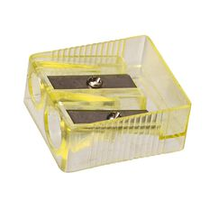 Impact Pencil Sharpener 2 Hole Plastic Yellow