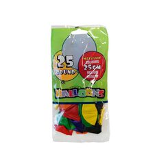 Meteor Balloons 25Cm 25 Pack Assorted Metallic Multi-Coloured