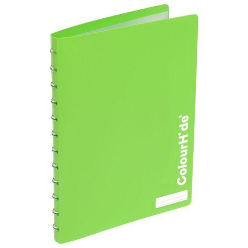 ColourHide Custom Display Book 20 Pocket Lime A4