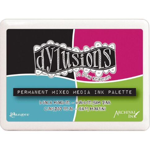 Dylusions Stamp Pad Mixed Media Palette Multi-Coloured