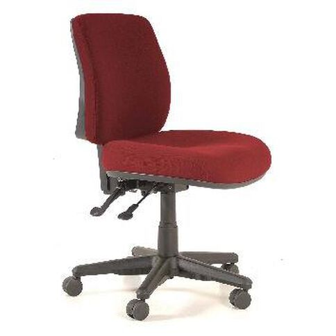 Buro Seating Roma 2 Lever Midback Chair Burgundy
