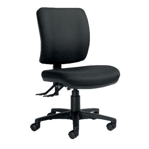 Dawell Rexa Epee 2 Lever Midback Chair Black