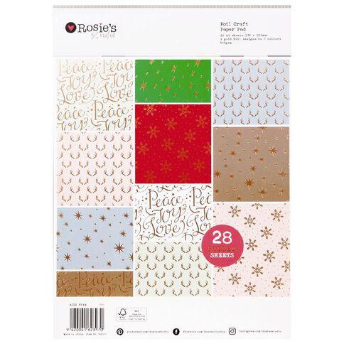 Rosie's Studio Festive Essential Paper Pad 28 Sheet A4