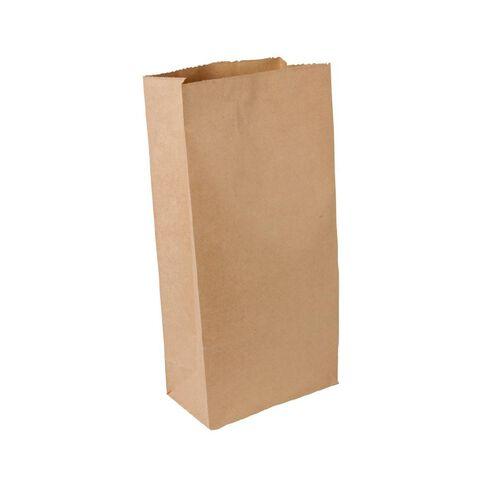 Unibag Paper Bags Block Bottom #3 185 x 100 x 385mm 200 Pack Brown